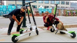 Getting Extrem on Lime Electric Scooters In Denver Colorado 2018