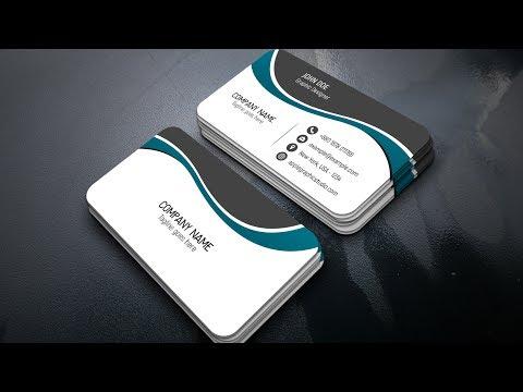 Design a Professional Business Card - Adobe Photoshop CC 2017
