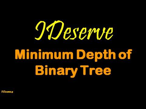 Minimum Depth of Binary Tree