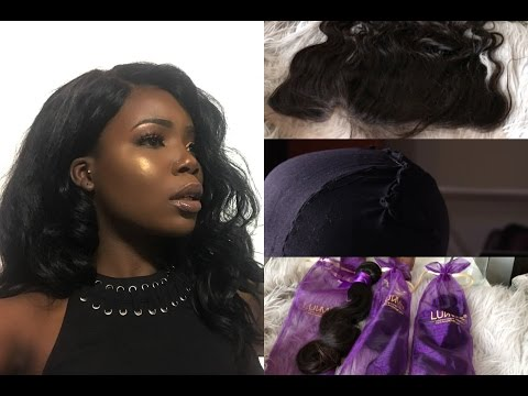 WATCH ME DIY MY FRONTAL WIG FROM SCRATCH 2017