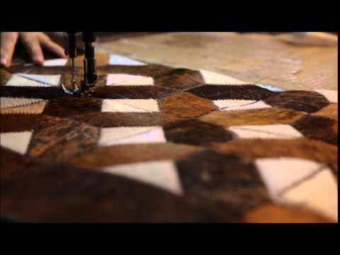 Making of Patchwork Cowhide Rugs by MosaicHides.com