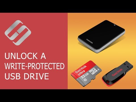 How to Unlock a Write Protected USB Drive, a SD or Micro SD Memory Card or a Hard Drive 👨💻🛠️🖥️