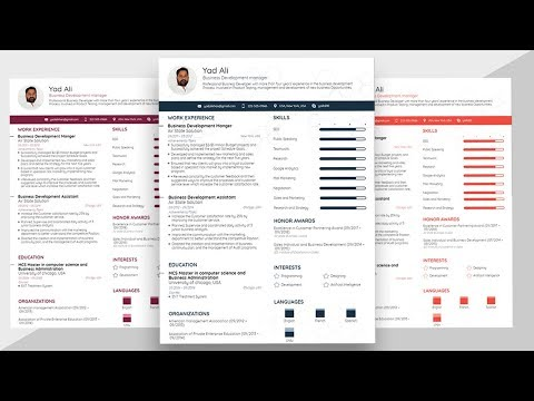 How to make a basic and simple Resume Template with Microsoft word 2019 latest