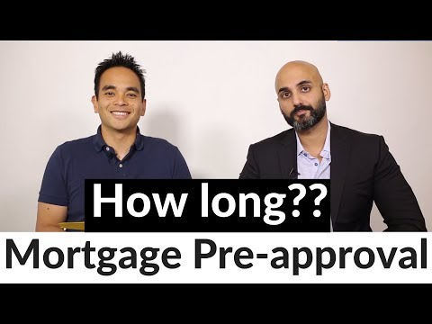 How long does it take for a mortgage pre-approval?
