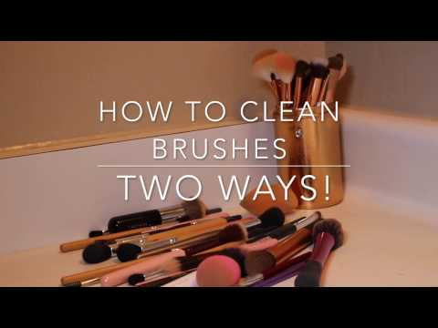 HOW TO: 2 Ways To Clean Makeup Brushes! Beauty Blender too!