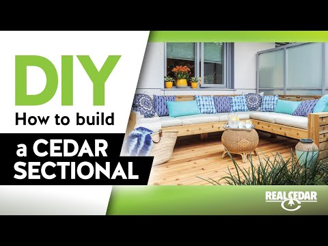 DIY – How to Build an Outdoor Cedar Sectional