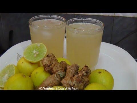 Ginger Lemon Juice - Summer Special Recipe - Ginger Lemonade Recipe By Healthy Food Kitchen