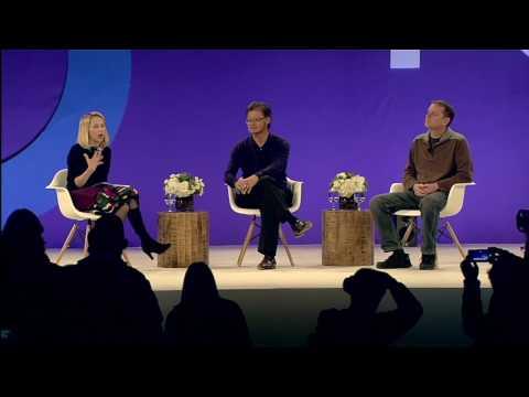 Yahoo TechPulse: CEO Marissa Mayer with Founders David Filo & Jerry Yang (1)