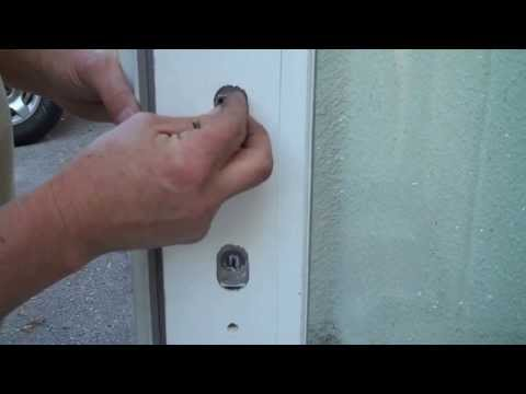How to Replace Key Cylinder (or How to Get Cylinder Out/Back In for Rekeying) in an Andersen Door