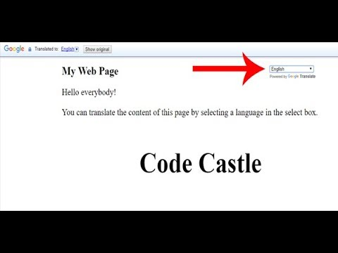 How to Add Google Translate In Website