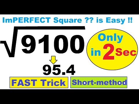 ImPerfect Square Root SHORTCUT TRICK ( IIT JEE Maths Tricks ) in Hindi