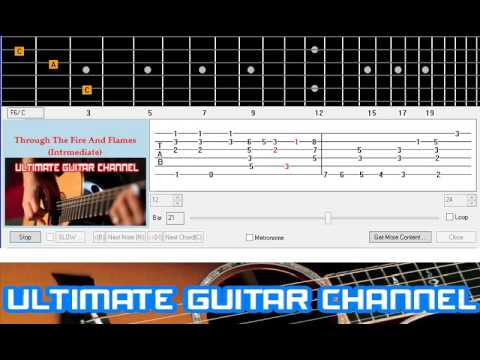 [Guitar Solo Tab] Through The Fire And Flames (Intrmediate)