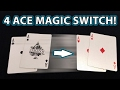 4 ACE Magic Card Trick Switch YOU CAN DO REVEALED mp3