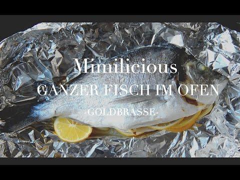 Ganzer Fisch im Ofen -Goldbrasse-