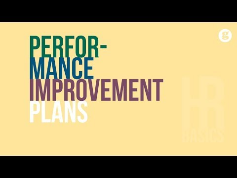 HR Basics: Performance Improvement Plans
