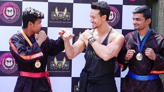 Tiger Shroff Flaunts His Muscular Body At Indian Kickboxing Association Launch Event