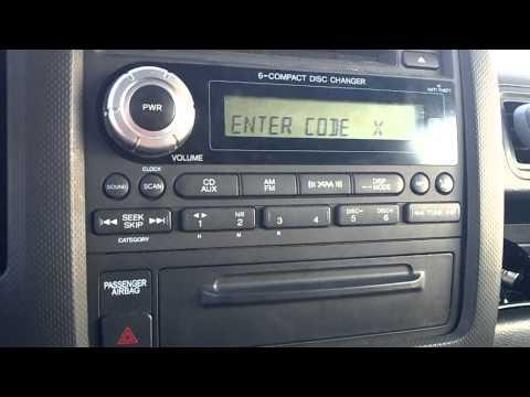 Reset locked honda radio with your code ( Ridgeline )