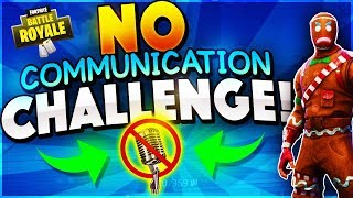 No Communication Challenge! (Fortnite Battle Royale)