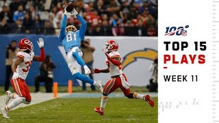 Top 15 Plays from Week 11 | NFL 2019 Highlights