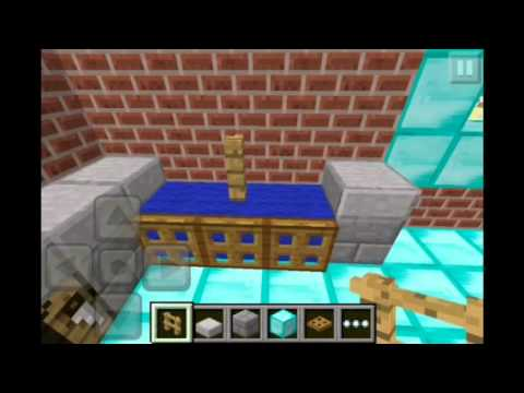 Minecraft Pe: How to Build A Kitchen (Tutorial)