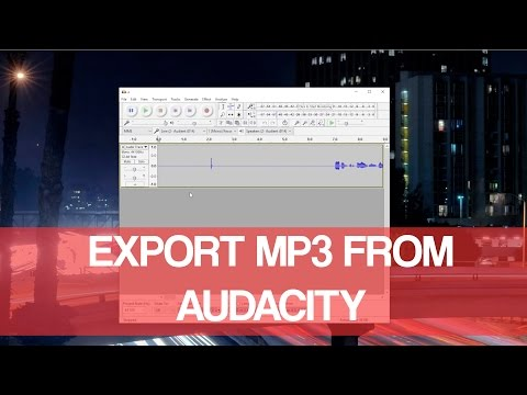 Export MP3 From Audacity