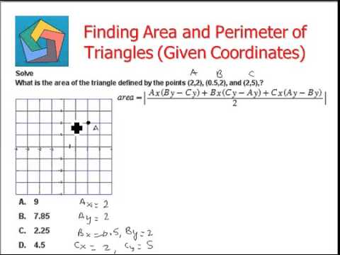 Finding Area and Perimeter of Triangles (Given Coordinates)
