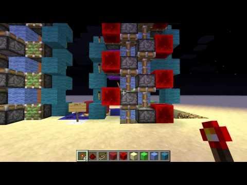 Minecraft 1.6.4 Super Compact and Super Fast Piston Elevator