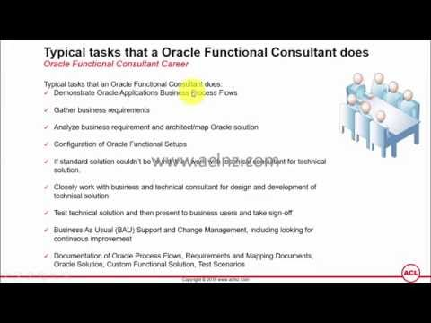 What is the Job Description of Oracle Functional Consultant?
