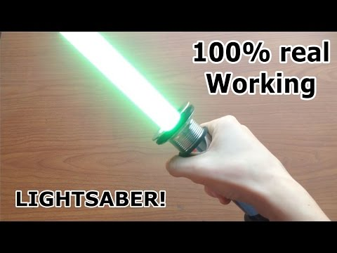 Making a Real Lightsaber! Works! 2017