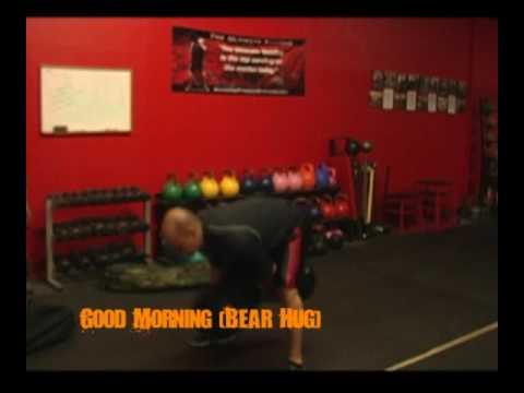 Good Morning (Bear Hug) Sandbag Exercise