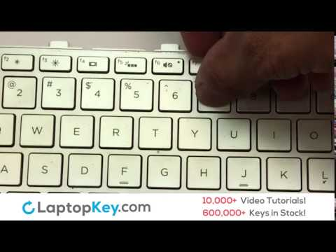 Netbook Laptop Keyboard Key Repair | Fix Install Stuck Sticky Keys | HP ENVY M6
