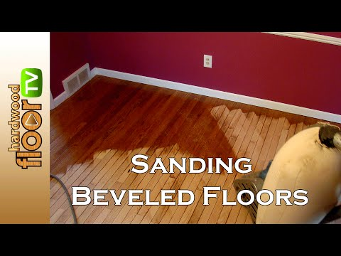Refinishing Beveled Hardwood Floors - Sanding Prefinished