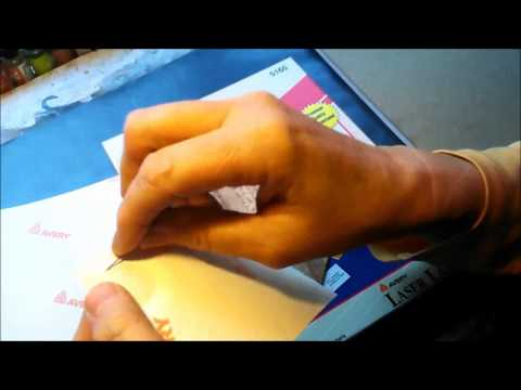 Quick Tip - Removing Adhesive Backing From Labels