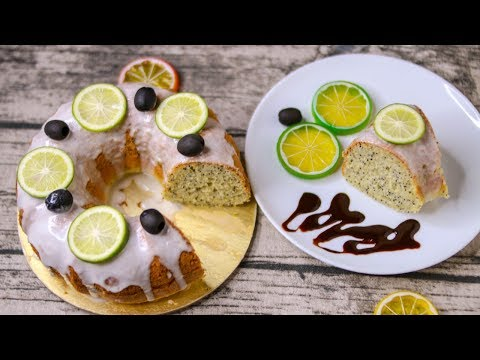 LEMON POPPY SEED CAKE | LEMON POPPY SEED BUNDT CAKE WITHOUT OVEN