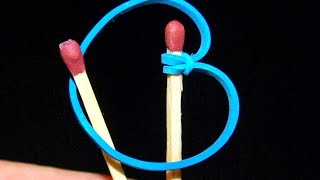 Life Hack How to Light a Match with a Simple Rubber!   WasabySajado