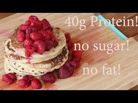 Fit pancake recipe with no sugar & no fat!