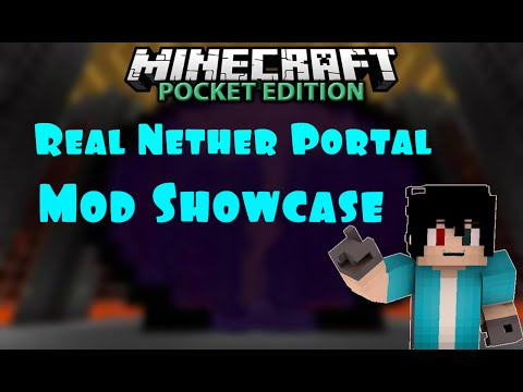 0.10.5 Real Nether Portal Mod Showcase | Minecraft Pocket Edition