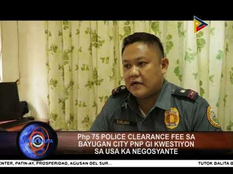 JANUARY 15, 2018 - POLICE CLEARANCE FEE