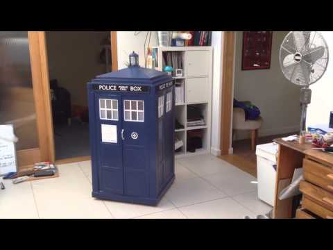 Leo's cardboard TARDIS