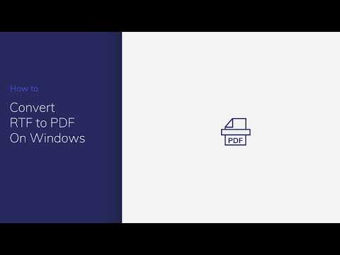 Convert RTF to PDF on Windows with PDFelement