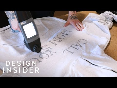 Portable Printer Directly Prints Designs On Clothes