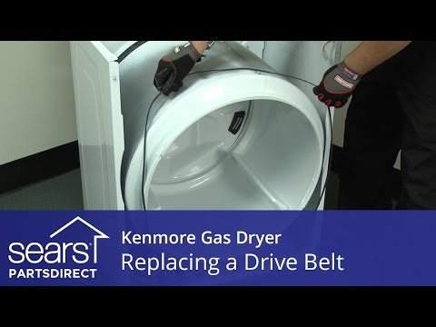 How to Replace a Kenmore Gas Dryer Drive Belt