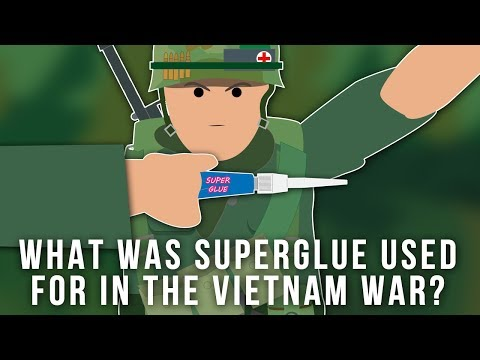 What was Superglue used for in the Vietnam War?