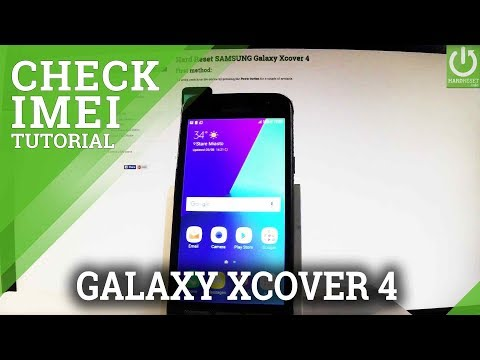 IMEI in SAMSUNG Galaxy Xcover 4 - Check Galaxy IMEI Number