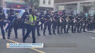 Police Brutality Protest in Downtown Charleston