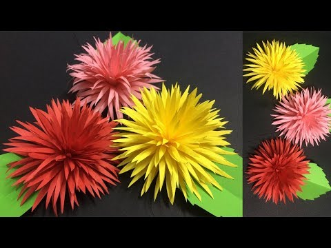 How to Make Beautiful Paper Flower | Making Paper Flowers | DIY-Paper Crafts
