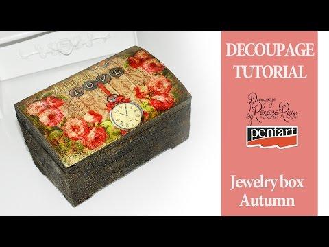 How to decoupage on wood - Jewelry box decoupage tutorial