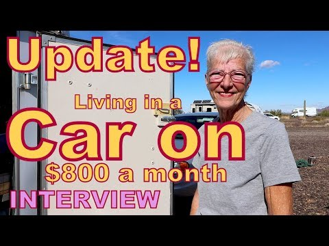 UPDATE: Dee Living in a Car on $800 a Month INTERVIEW