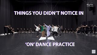 BTS THINGS YOU DIDN39T NOTICE IN 39ON39 DANCE PRACTICE