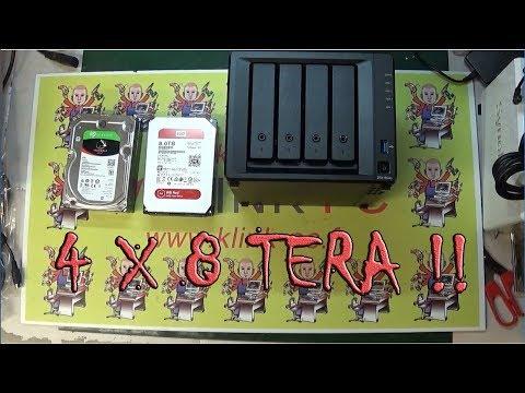 unboxing Synology montage DS 418 PLay avec 4 disques de 8 tera et  + 4 go de ram